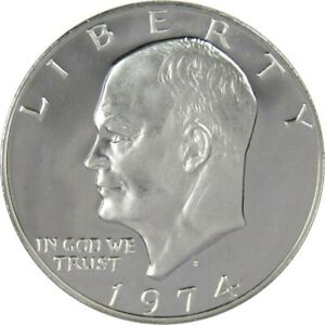 1974 S $1 EISENHOWER IKE SILVER CLAD DOLLAR COIN CHOICE PROOF