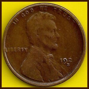 1925 S: BRN VG LINCOLN WHEAT CENT  / SEMI KEY 'S' DATE