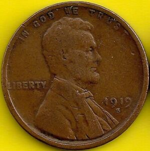 1919 S: BRN G LINCOLN WHEAT CENT