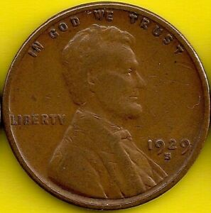 1929 S: BRN VG LINCOLN WHEAT CENT