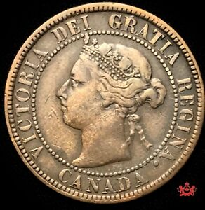 1893 CANADA 1 LARGE CENT   F/VF   LOT1353