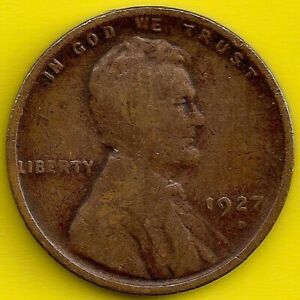 1927 D: BRN G LINCOLN WHEAT CENT