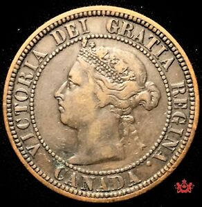 1882H CANADA 1 LARGE CENT OBV2   VF   LOT1354
