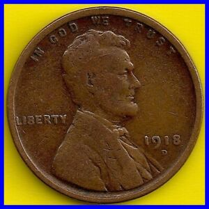 1918 D: BRN G LINCOLN WHEAT CENT