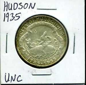 1935 50C HUDSON COMMEMORATIVE HALF DOLLAR IN UNCIRCULATED CONDITION 00703