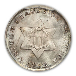 Click now to see the BUY IT NOW Price! 1852 3CS THREE CENT SILVER PCGS MS68