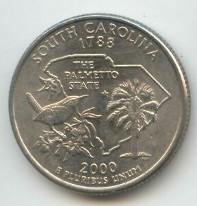 USA 2000 D SOUTH CAROLINA STATE QUARTER AMERICAN 25C 25 CENTS EXACT COIN 2000D