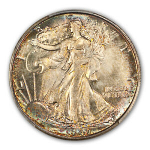 Click now to see the BUY IT NOW Price! 1941 S 50C WALKING LIBERTY HALF DOLLAR PCGS MS67
