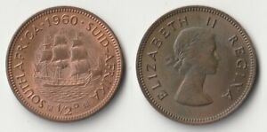 1960 SOUTH AFRICA HALF PENNY COIN