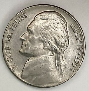 1953 JEFFERSON NICKEL 5 CENTS UNCIRCULATED COIN  1769