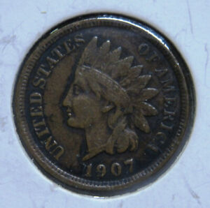 1907 INDIAN HEAD PENNY NICER GRADE