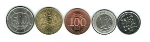 LEBANON COIN SET OF 5  25 50 100 250 500  ISSUED FROM 2002 2018 UNC