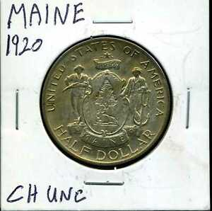 1920 50C MAINE COMMEMORATIVE HALF DOLLAR IN CHOICE UNCIRCULATED CONDITION 01004