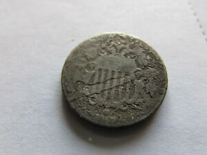 1869 SHIELD NICKEL EARLY US 5 CENTS COIN PHILADELPHIA MINT 5C