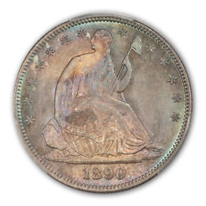 Click now to see the BUY IT NOW Price! 1890 50C LIBERTY SEATED HALF DOLLAR PCGS MS67  CAC
