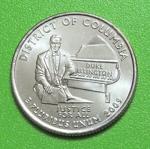 2009 D 25C DISTRICT OF COLUMBIA TERRITORY QUARTER   UNCIRCULATED FROM MINT ROLL