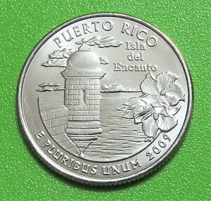 2009 D 25C PUERTO RICO TERRITORY QUARTER   UNCIRCULATED FROM MINT ROLL