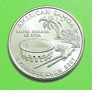 2009 D 25C AMERICAN SAMOA US TERRITORY QUARTER   UNCIRCULATED FROM MINT ROLL