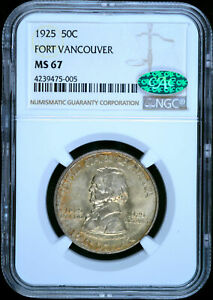Click now to see the BUY IT NOW Price! 1925 U.S. 50   FORT VANCOUVER HALF DOLLAR   NGC & CAC MS67
