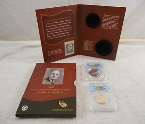 2015 HARRY S.TRUMAN 2PC COIN & CHRONICLE SET  2015 P ANACS RP70 DCAM/2015 MS70