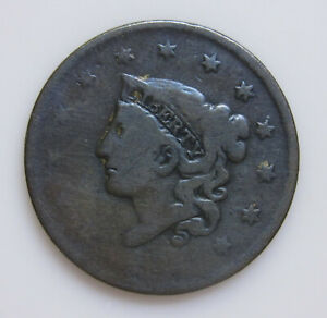 1835 U.S. LARGE CENT HEAD OF 1836 SMALL 8 SMALL STARS