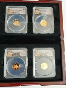 2009  S LINCOLN CENT 4 COIN PROFESSIONAL   ANACS   PR70 DCAM