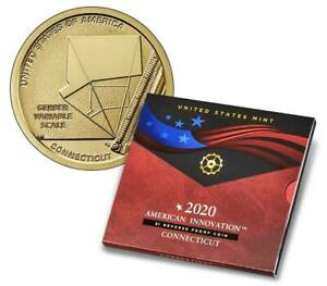 2020 S AMERICAN INNOVATION DOLLAR REVERSE PROOF CONNECTICUT $1 IN U.S. GOV PACK