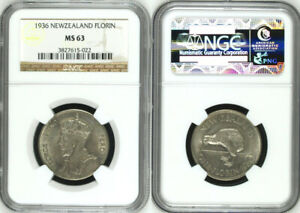 Click now to see the BUY IT NOW Price! 1936 NEW ZEALAND SILVER FLORIN COIN NGC MS63 5022