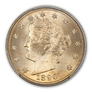Click now to see the BUY IT NOW Price! 1890 5C LIBERTY NICKEL PCGS MS67