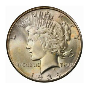 Click now to see the BUY IT NOW Price! 1934 S $1 PEACE DOLLAR PCGS MS66 3245 COLOR
