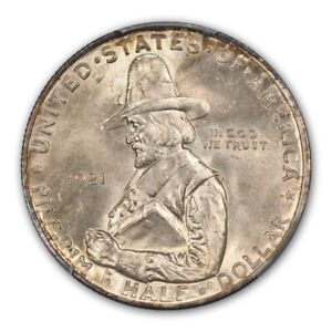 Click now to see the BUY IT NOW Price! PILGRIM 1921 50C SILVER COMMEMORATIVE PCGS MS66