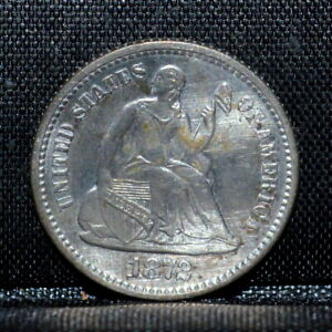 1872 P SEATED 1/2 HALF DIME  UNC DETAILS  H10C UNCIRCULATED  NOW TRUSTED