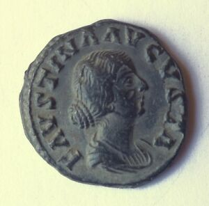 8  ROMAN IMPERIAL ANCIENT REPRO COIN. LEAD COIN.FAUSTINA JUNIOR