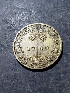 1940 BRITISH WEST AFRICA SHILLING EXOTIC AFRICAN COIN  1799