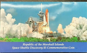 REPUBLIC OF THE MARSHALL ISLANDS SPACE SHUTTLE DISCOVERY $5 COMMEMORATIVE COIN