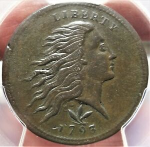 1793 S 9 WREATH CENT PCGS VF DETAILS FIRST YEAR ISSUED EARLY COPPER 1C TYPE COIN