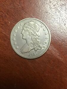 1837 CAPPED BUST QUARTER NICE XF BEAUTIFUL COLOR
