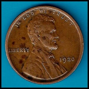 1920: BRN XF LINCOLN WHEAT CENT