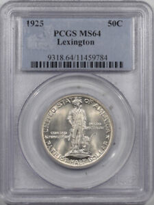 1925 LEXINGTON COMMEMORATIVE HALF DOLLAR   PCGS MS 64 PREMIUM QUALITY
