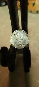 1834 CAPPED BUST 25C QUARTER 90  SILVER HOLED GREAT DEATAILS