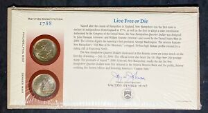 2000 NEW HAMPSHIRE FIRST DAY COVER P&D MINT STATE QUARTER 25 UNCIRCULATED COINS