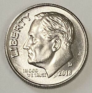 2018 D ROOSEVELT DIME 10 CENTS DOUBLE DIE OBVERSE ERROR CIRCULATED COIN   2732