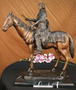 HAND MADE BY JAMES EARLE FRASER SCULPTURE BRONZE LARGE WESTERN ART DECO GIFT