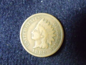 1889 INDIAN HEAD CENT PENNY VG  DETAILS   C 14