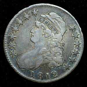 1812 CAPPED BUST HALF DOLLAR  XF EXTRA FINE  50C  DATE  NOWTRUSTED