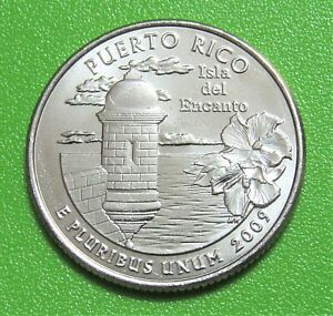 2009 P 25C PUERTO RICO TERRITORY QUARTER   UNCIRCULATED FROM MINT ROLL