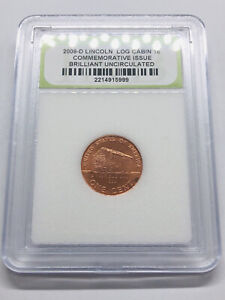 2009 D LINCOLN CENT LOG CABIN BIRTH PLACE SATIN PENNY US COIN  5999