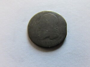 1836 CAPPED BUST DIME PHILADELPHIA MINT SILVER 10 CENTS COIN