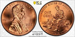 2009 LINCOLN CENT FORMATIVE YEARS PCGS MS65 RD