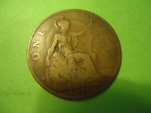 1919 ENGLISH ONE PENNY           >> S&H   C/S <<